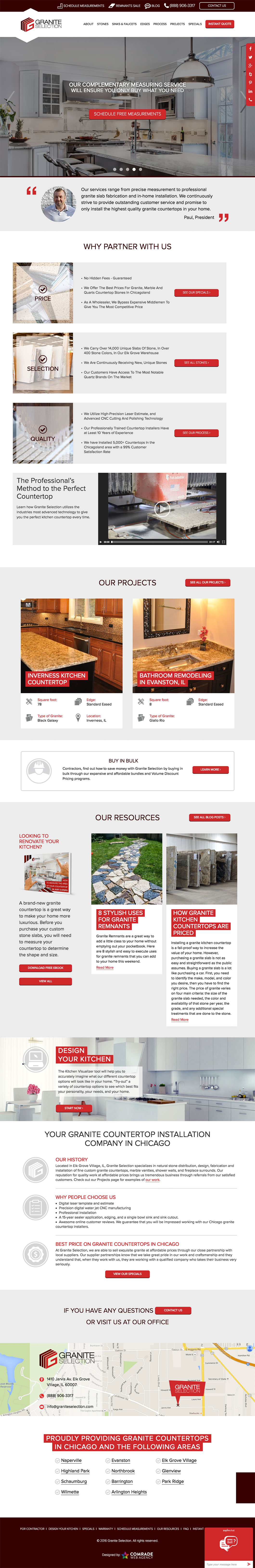 Granite Selection Homepage