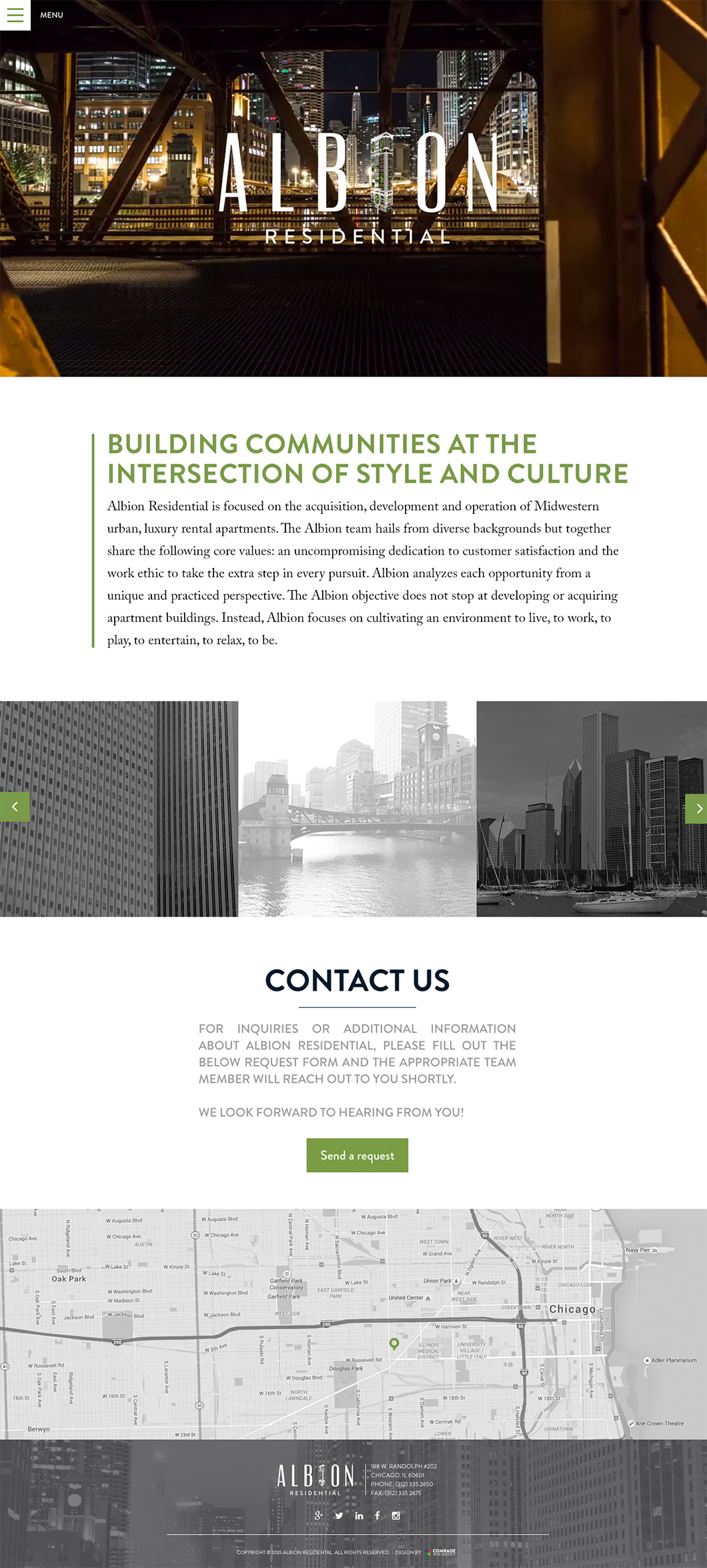 Albion Residential Homepage