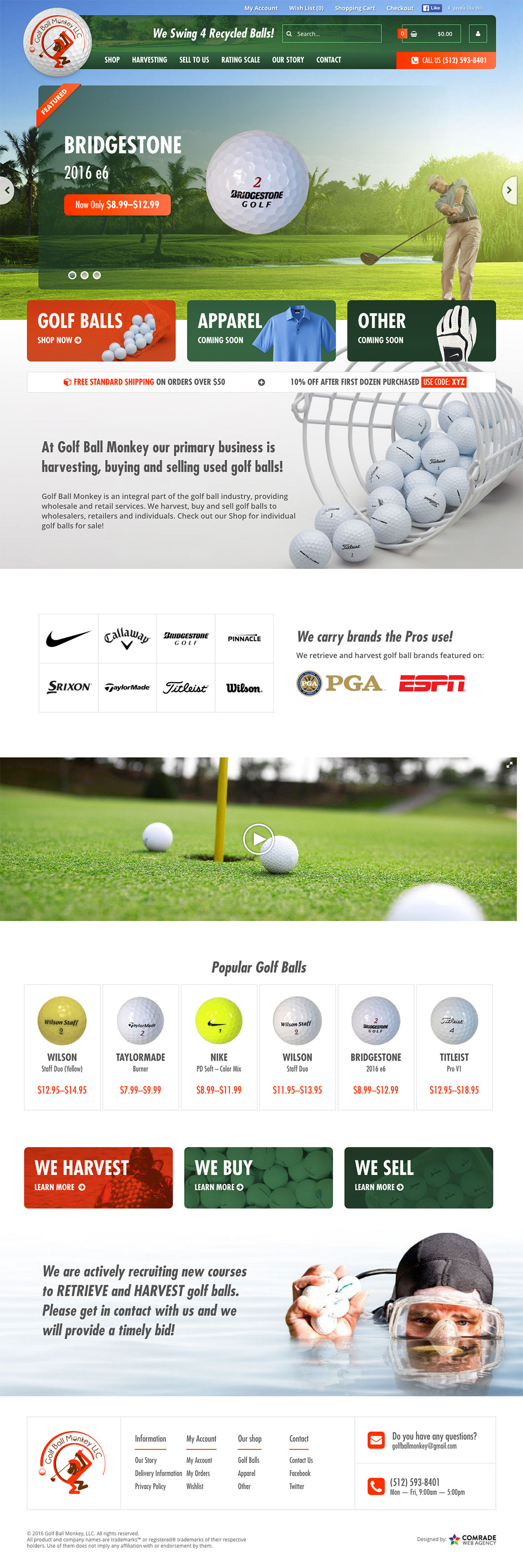 Golfball Monkey Homepage