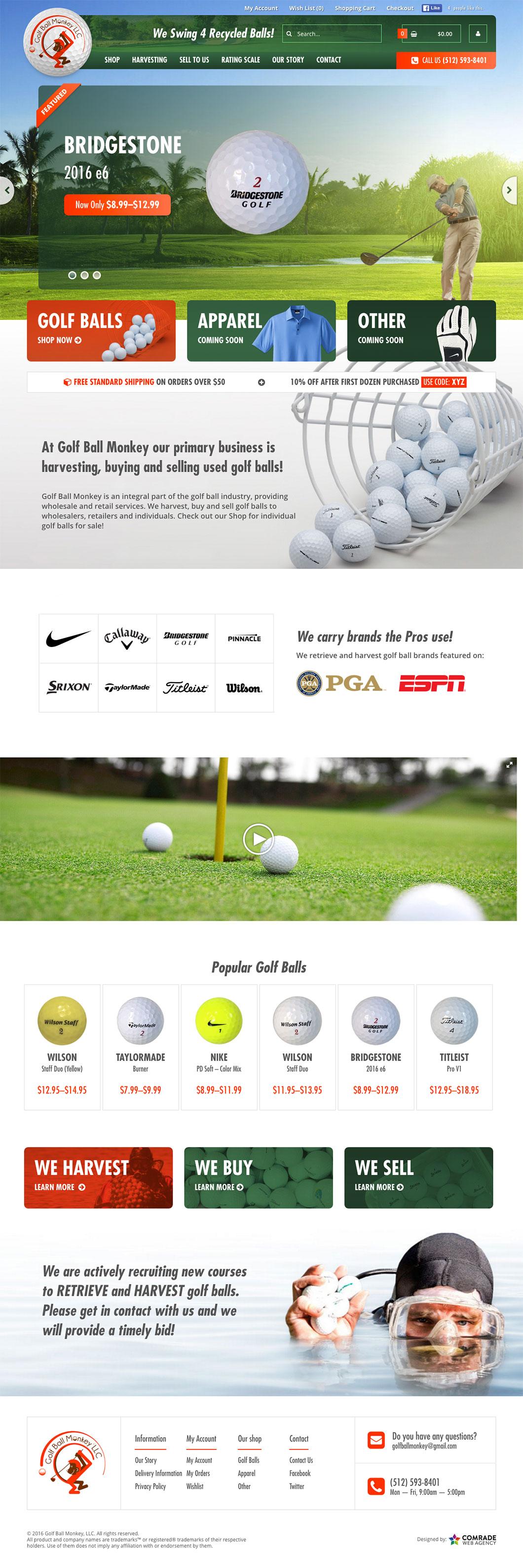 Golfball Monkey Homepage