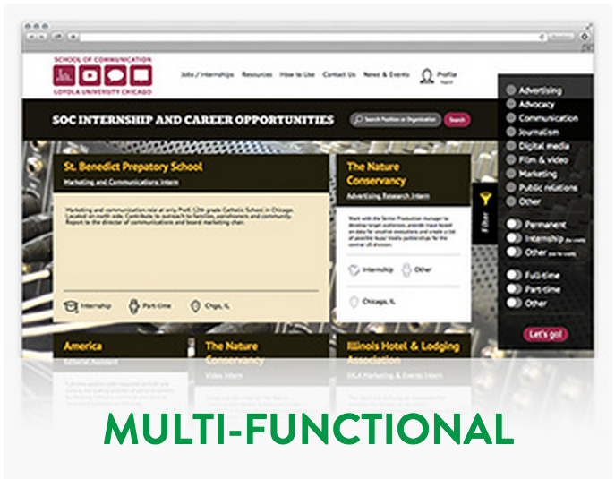 Multi-functional website design & development