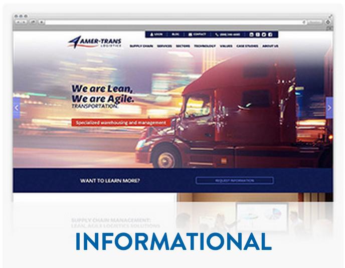 Informational website design & development