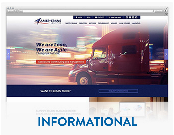 Informational website design & development