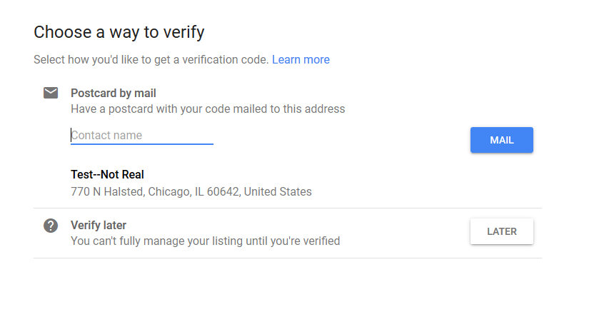Verification Code Google My Business