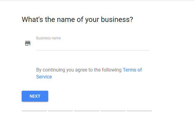 Google My Business Whats your name