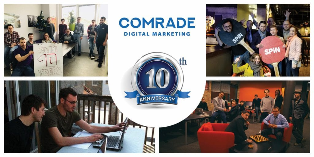 Celebrating 10 Years At Comrade Digital Marketing