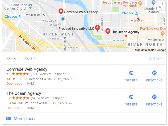 Comrade Google Local Listing