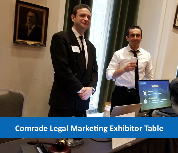 Comrade Legal Marketing Exhibitor Table