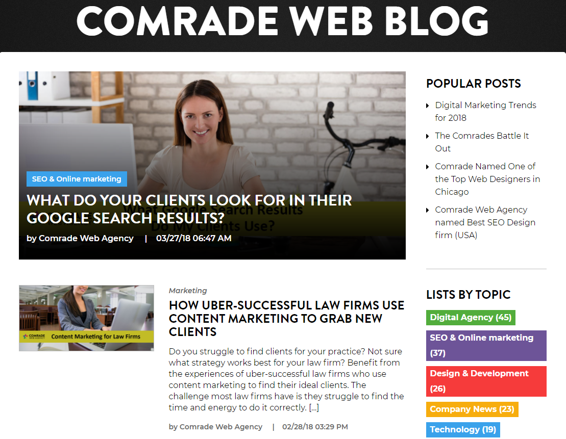 Comrade Web Blog
