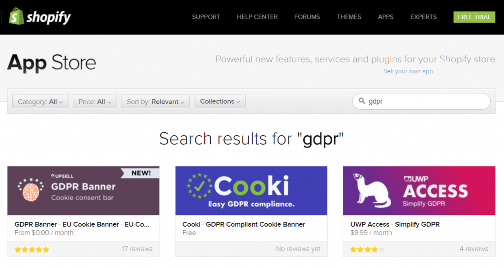 Shopify GDPR Apps