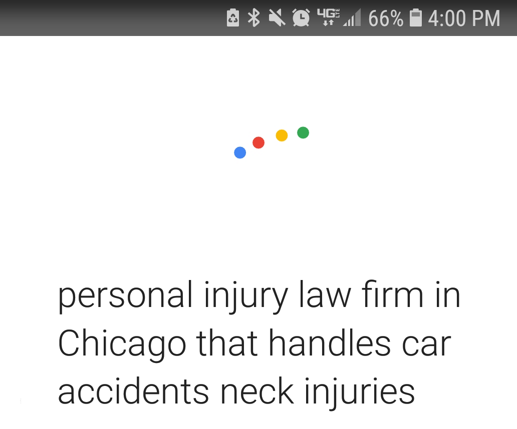 Google Voice Search Personal Injury Law Firm Chicago