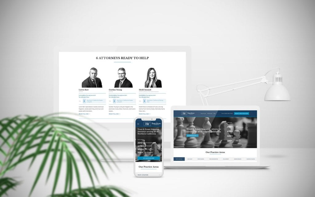 Competitive web design for attorneys