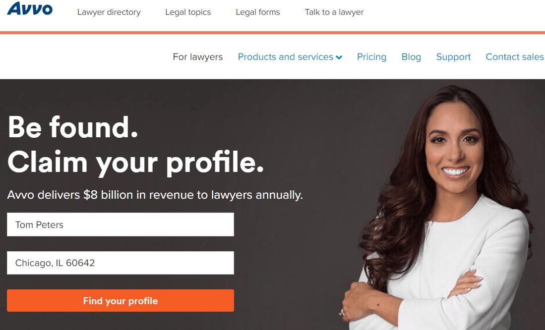 Avvo legal directory