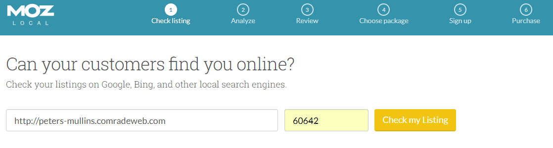 Moz Local Search