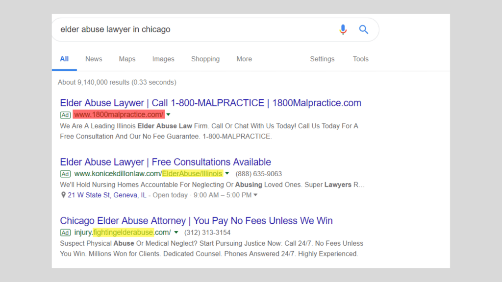 elderly abuse lawyer in chicago - google