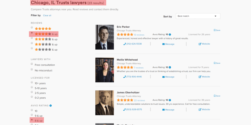 Online Directories for Attorneys