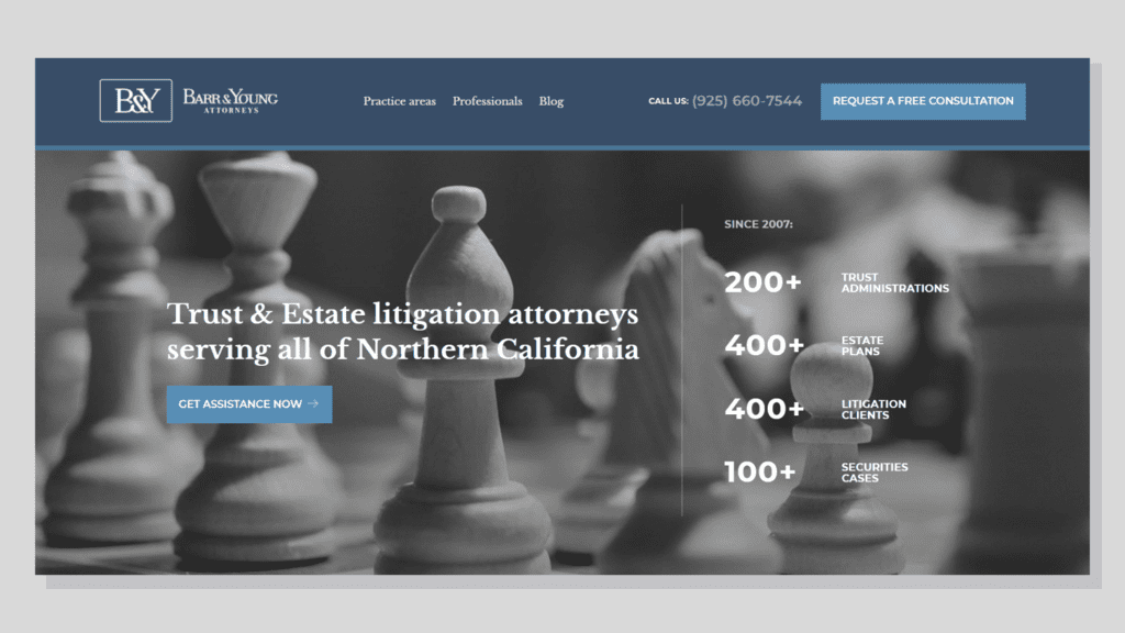 Have one of the best websites for lawyers in your market