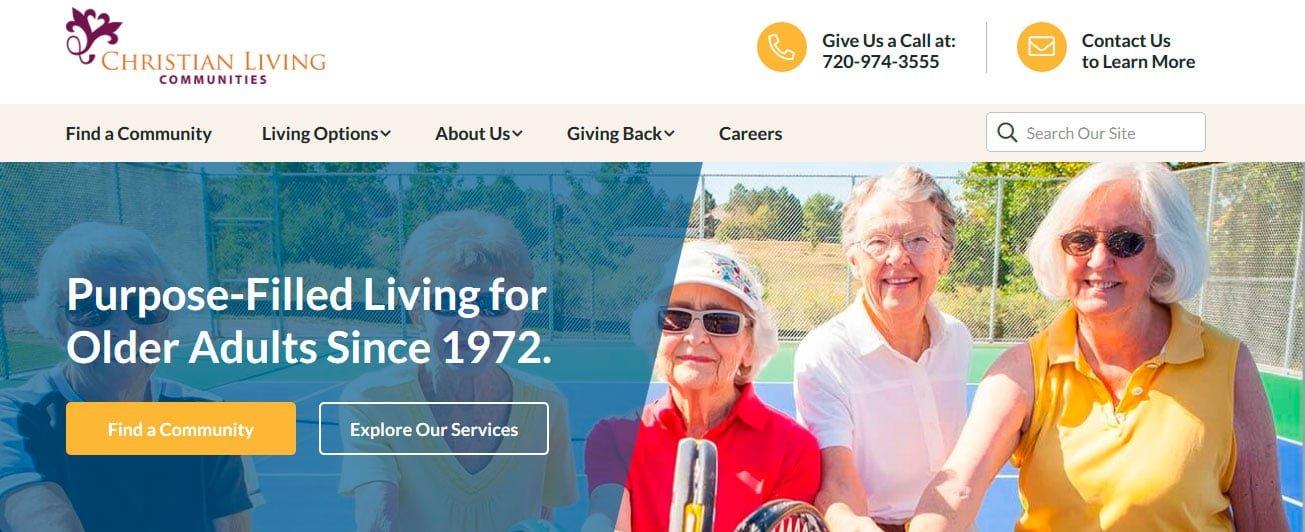 Best web design for senior living