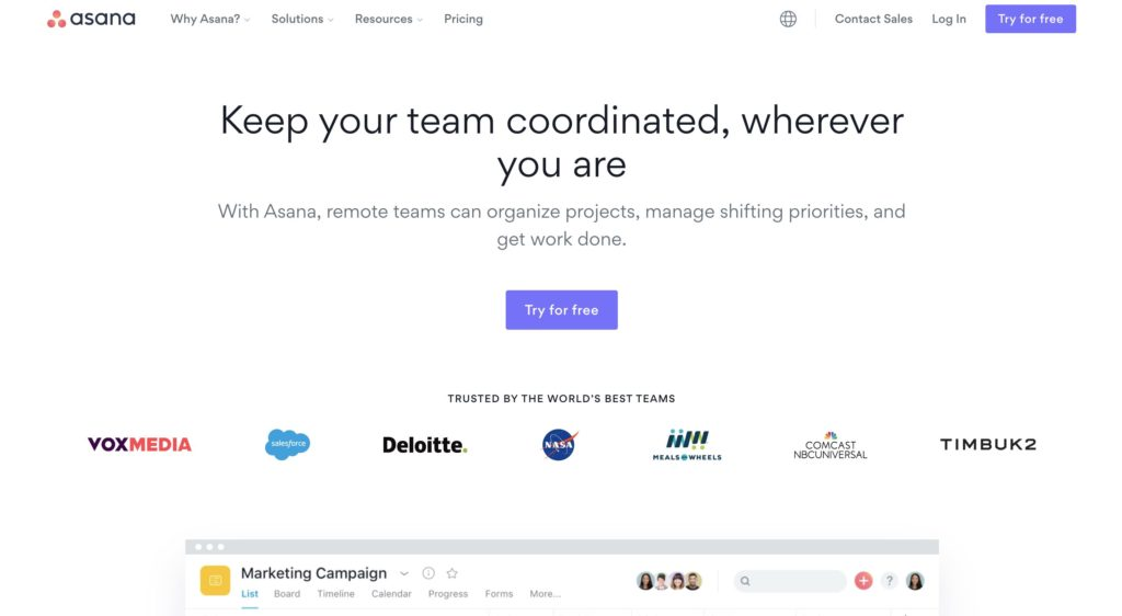 Asana - Manage your team's work, projects, & tasks online