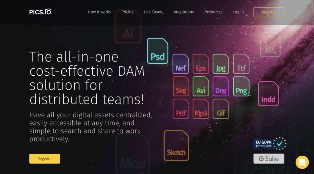 Pics.io Media asset management