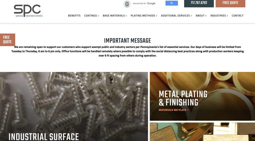 Sharret Metal Plating Services