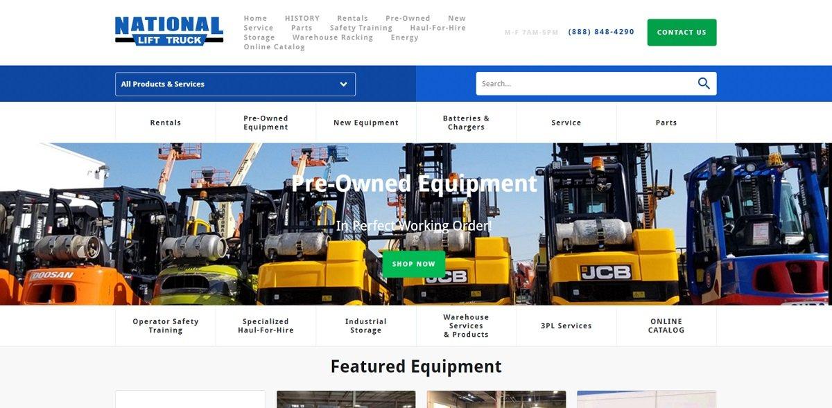 National Lift Truck best b2b websites