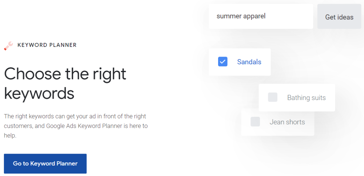 google keyword planner research tool