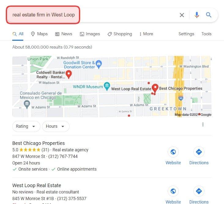 local seo real estate