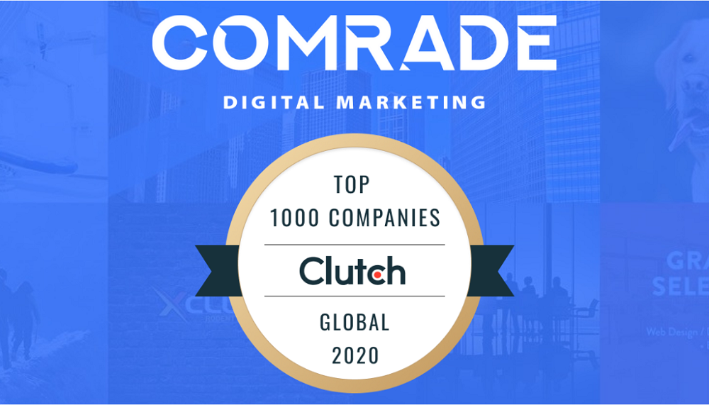 Comrade Digital Marketing Named as One of Clutch's Top Global Companies for 2020