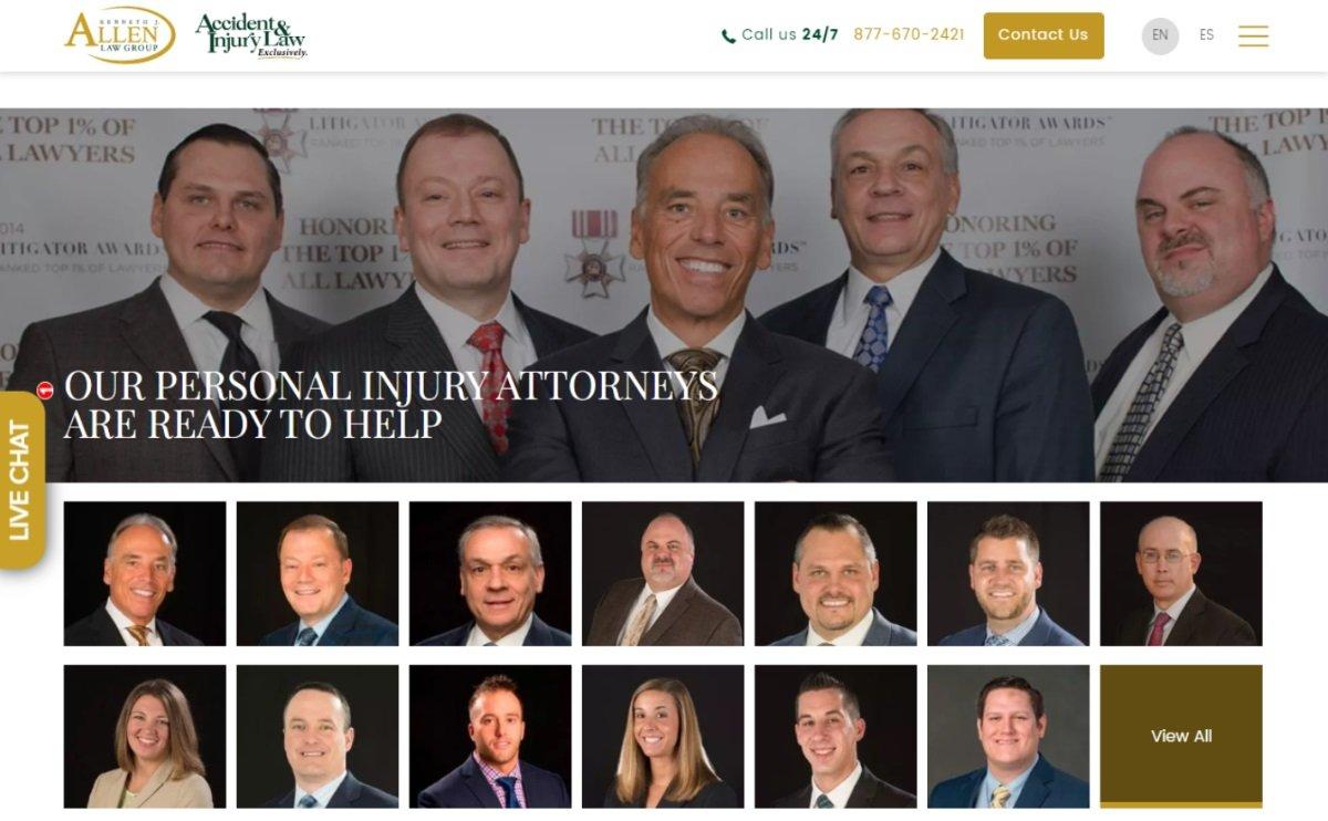 personal injury law website media