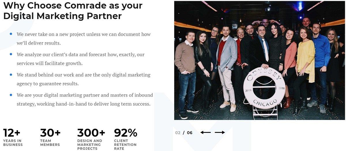 why choose comrade digital marketing as your partner