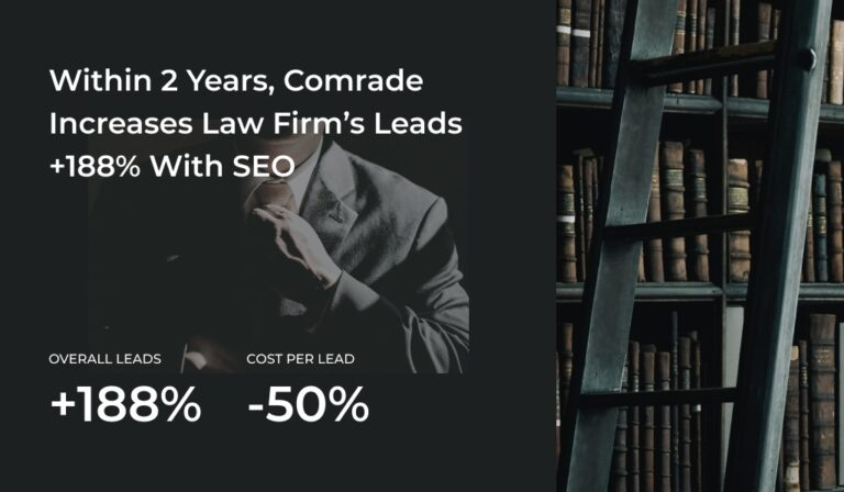 Case Study: Leveraging Power of SEO, Comrade Increases Law Firm's Leads More Than 188%