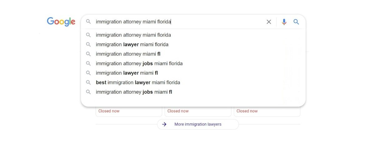 immigration lawyer ppc keywords