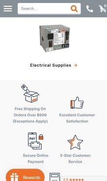 an hvaс company website mobile version