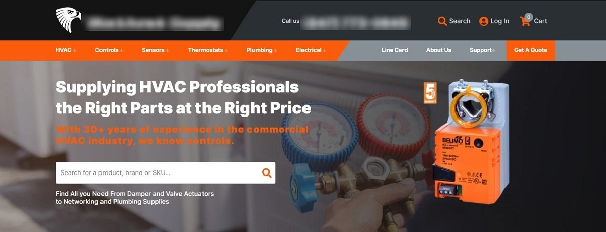 heating, ventilation, and air conditioning company website homepage