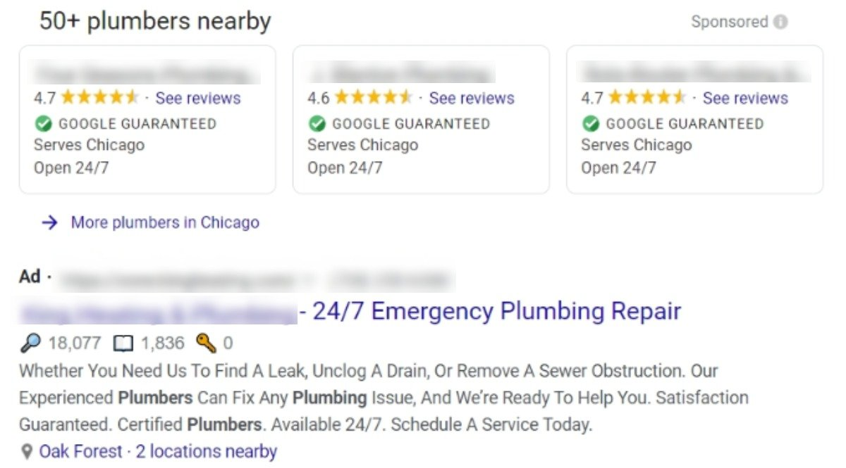 pay per click google ads for plumbers