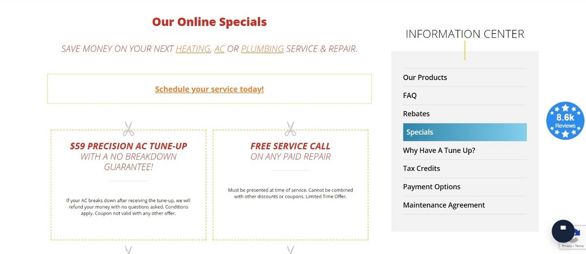 plumbing special offers