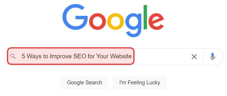 5 Ways to Improve SEO for Your Website