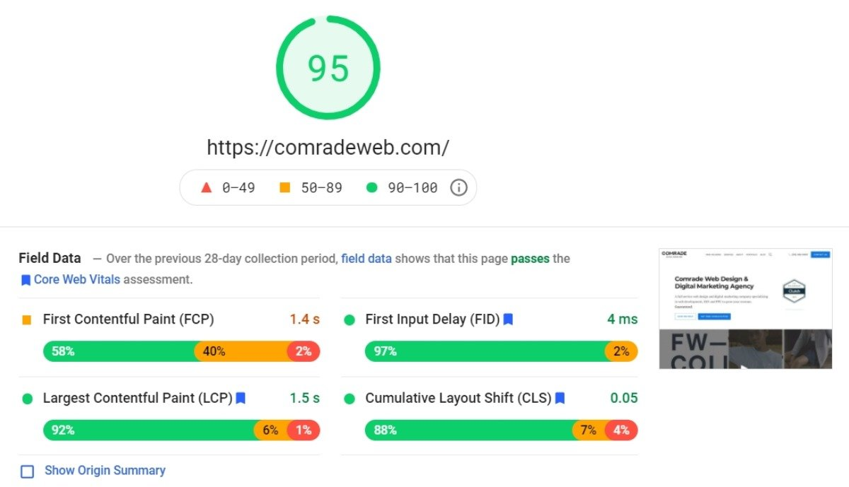google page speed insights technical seo