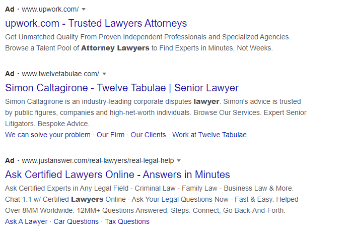 Lawyer PPC mistakes