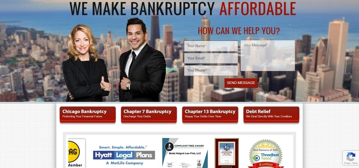 bankruptcy attorney landing page