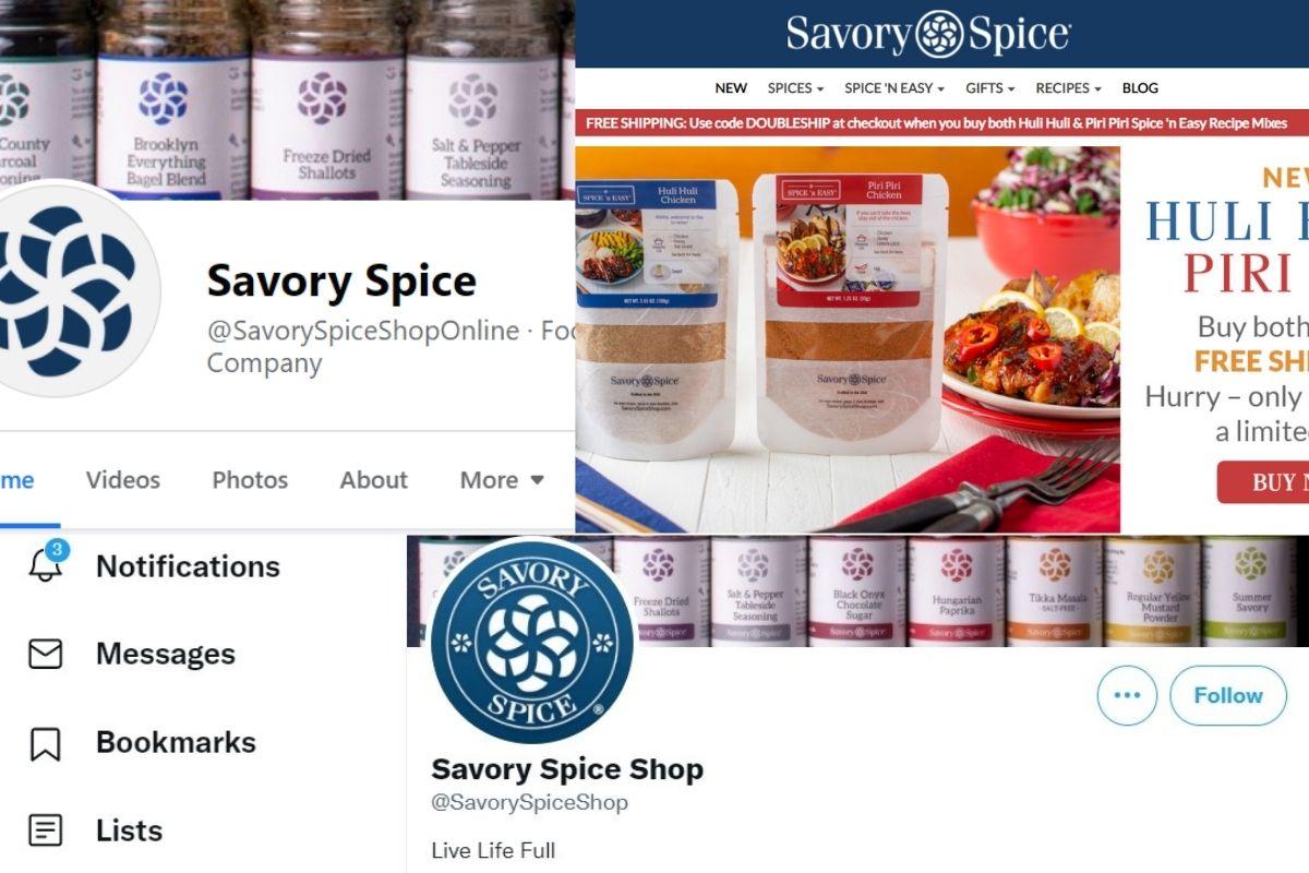 spice shop presence on social media