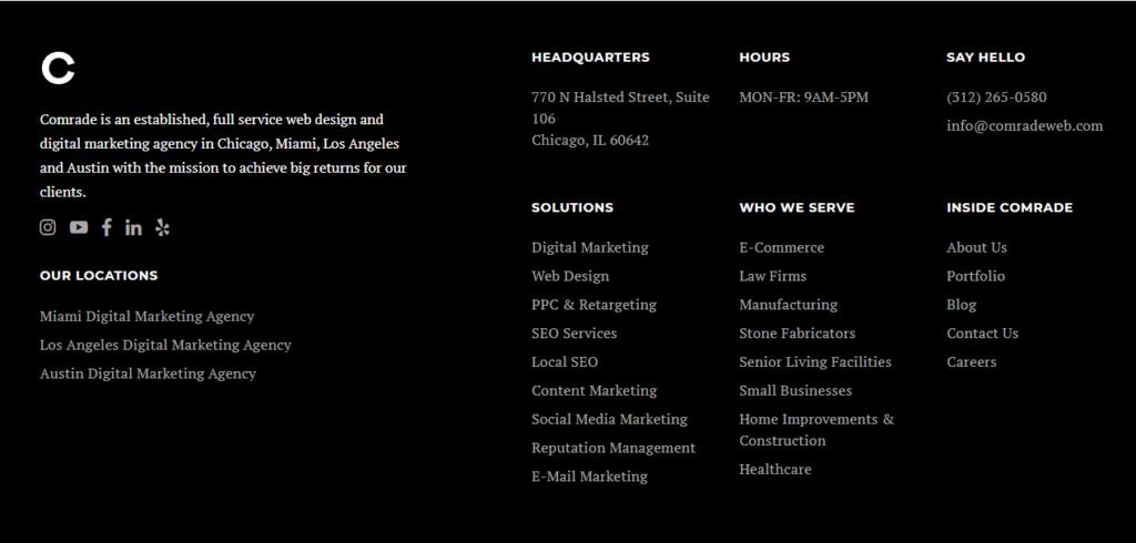 website structure menu