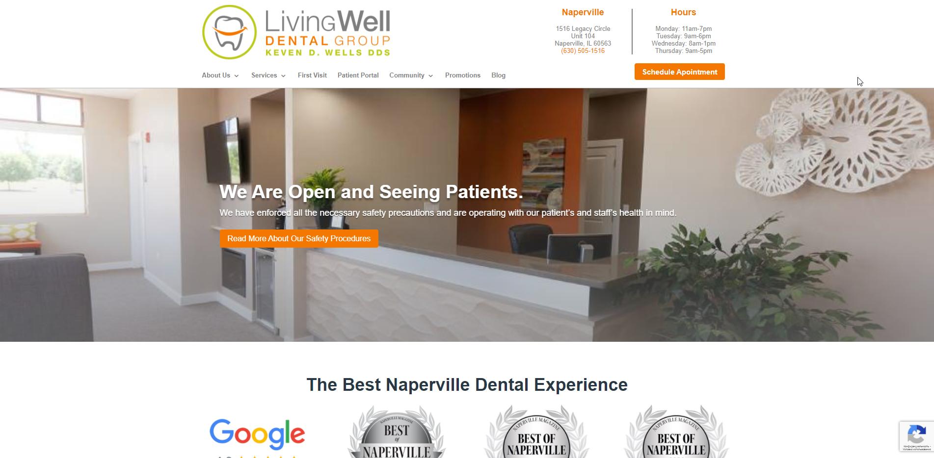 dental services website
